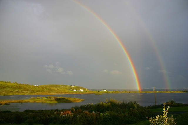 Seaforth Nova Scotia: A view from our windows and the glorious double rainbows!