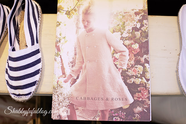 From Cabbages & Roses, their catalogue is a perfect collection of their shabby chic style - along with adorable blue and white stripped espadrille summer shoes.