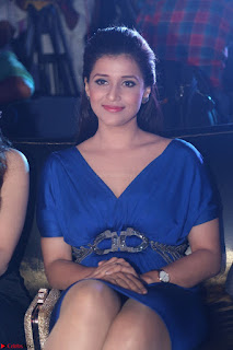 Mannara Chopra in Short Blue Dress at Rogue Movie Teaser Launch 1st March 2017 005.JPG