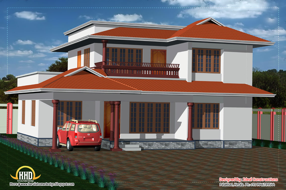 Two Storey Elevation Plan : Story house elevation sq ft kerala home
