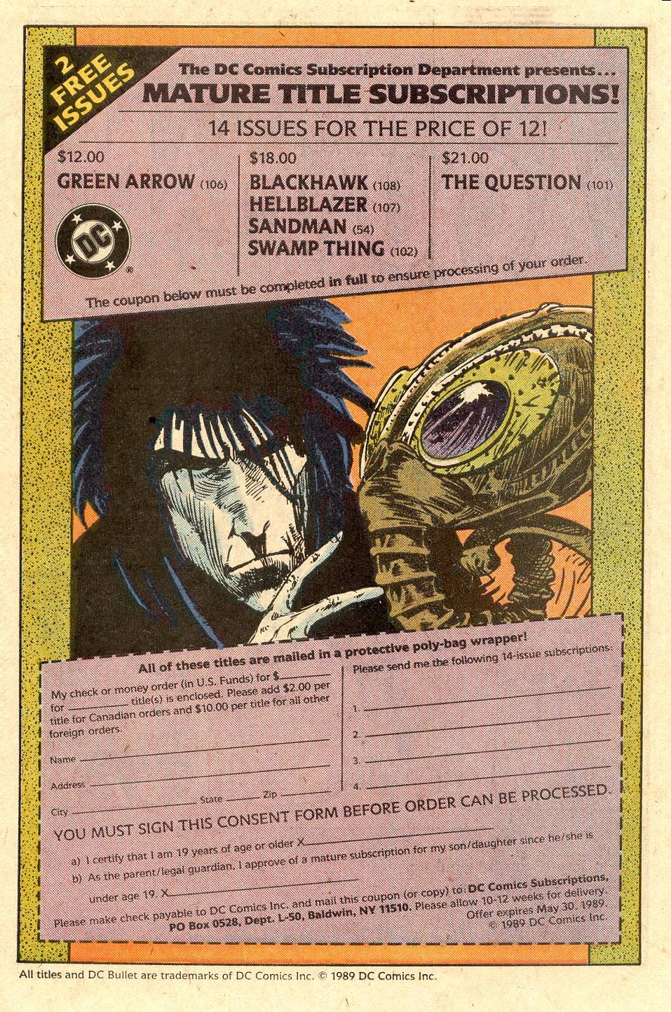 Read online Secret Origins (1986) comic -  Issue #40 - 42