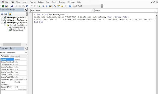 Input VBA In Excel Detail