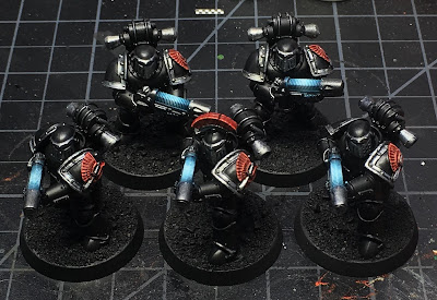 Horus Heresy Dark Angels WIP - tactical support squad with plasmaguns