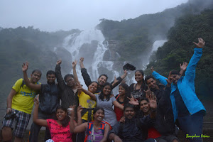 Group at Majestic Dudhsagar Water Falls
