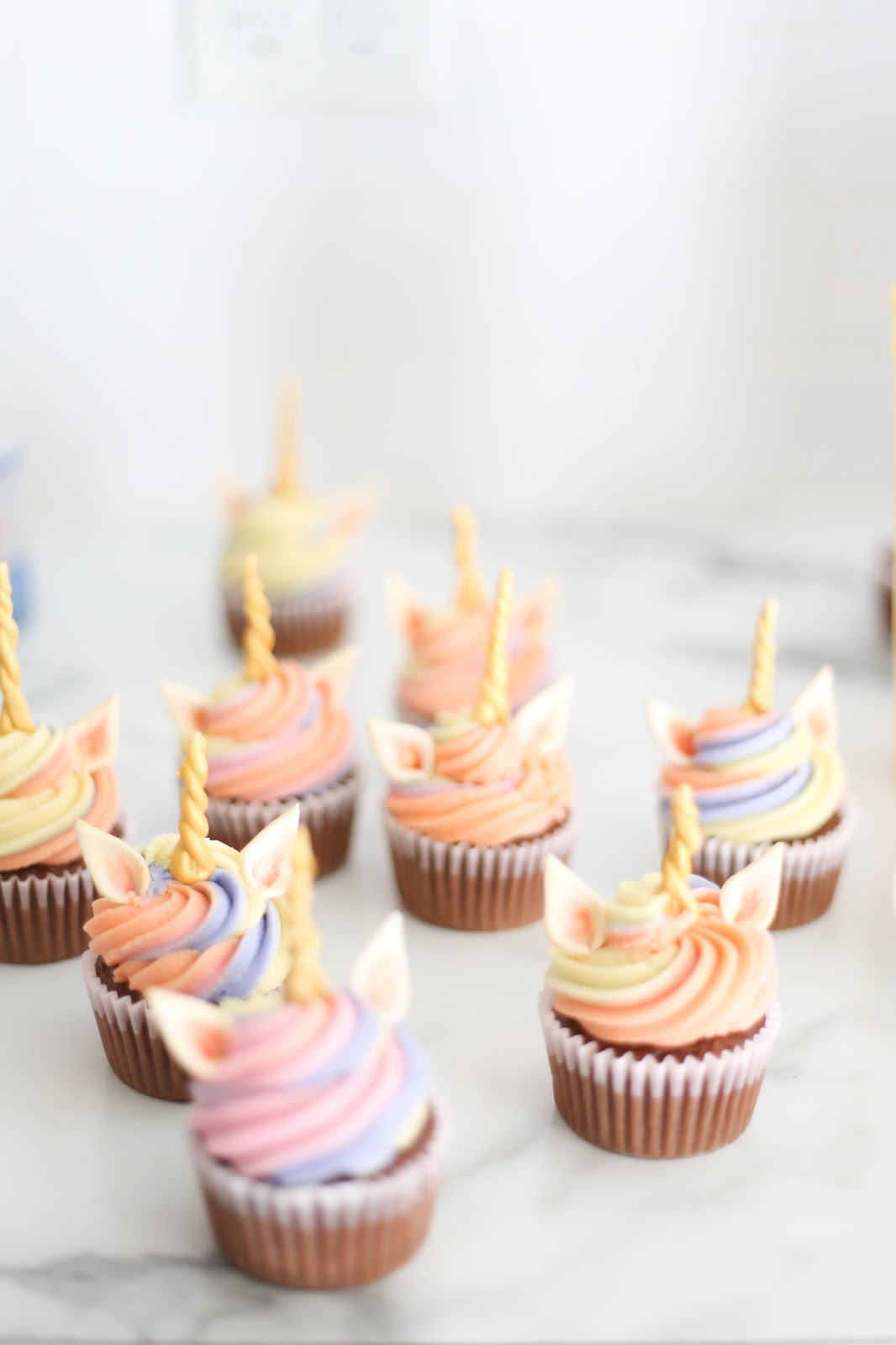 bright & bold: Unicorn cupcakes