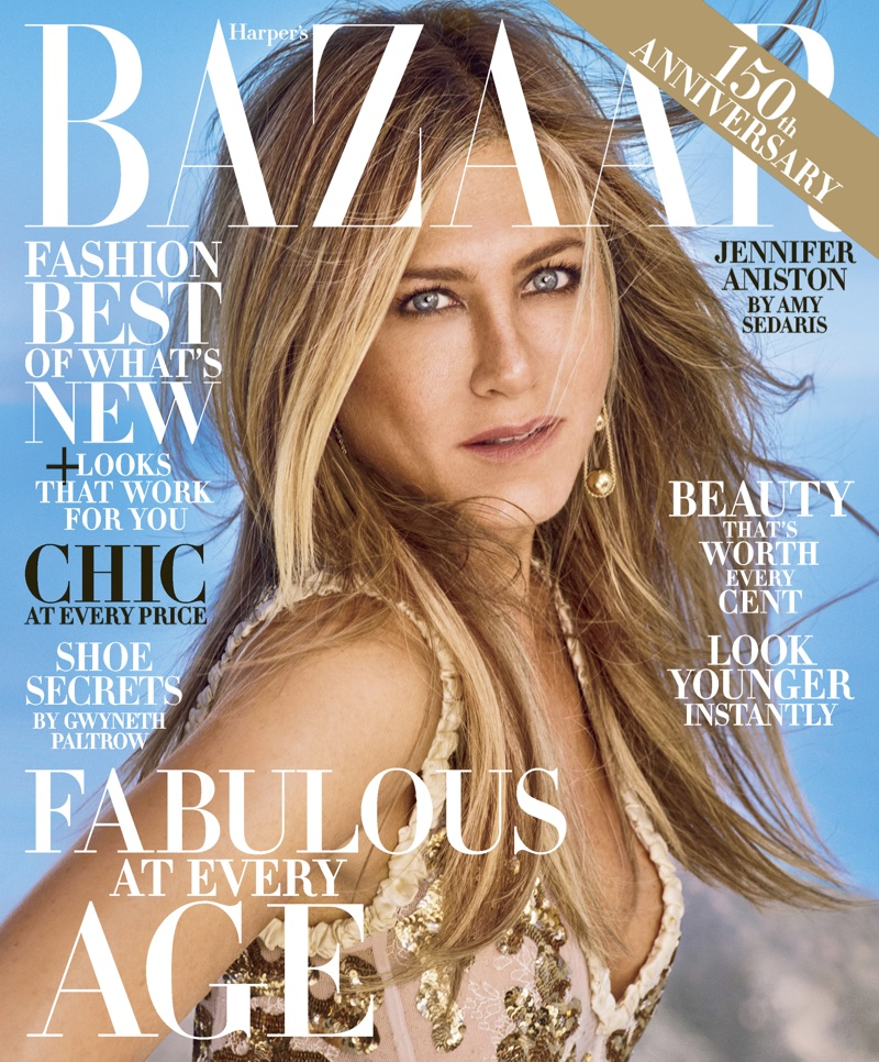Jennifer Aniston goes glamorous for Harper's Bazaar US October 2017