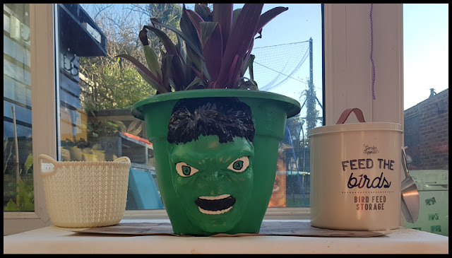 Adding Hulk's Face to a plant pot was a challenge to say the least!