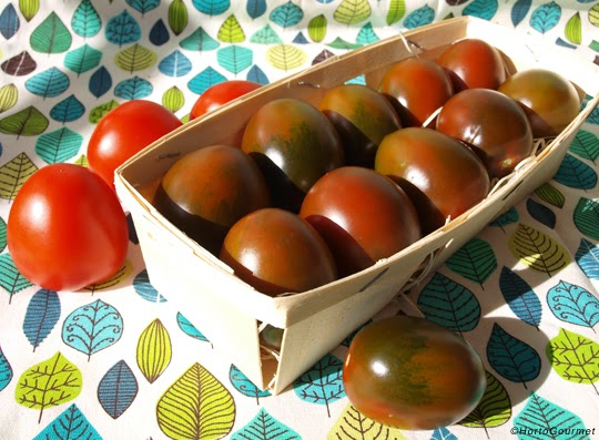 Tomate Kumato pera en cesta referencia 70 HortoGourmet