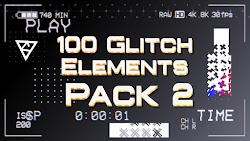 100 Glitch Elements Pack 2 - After Effects Templates | Motionarray 210455 - Free download