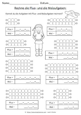 Zusammenhänge zwischen der Multiplikation und der Addition erkennen und verstehen. Aufgaben und Arbeitsblätter zur Multiplikation mit 2