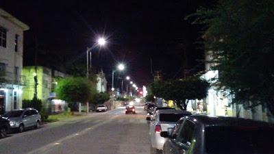 Finalmente iluminação da Rua Direita é melhorada
