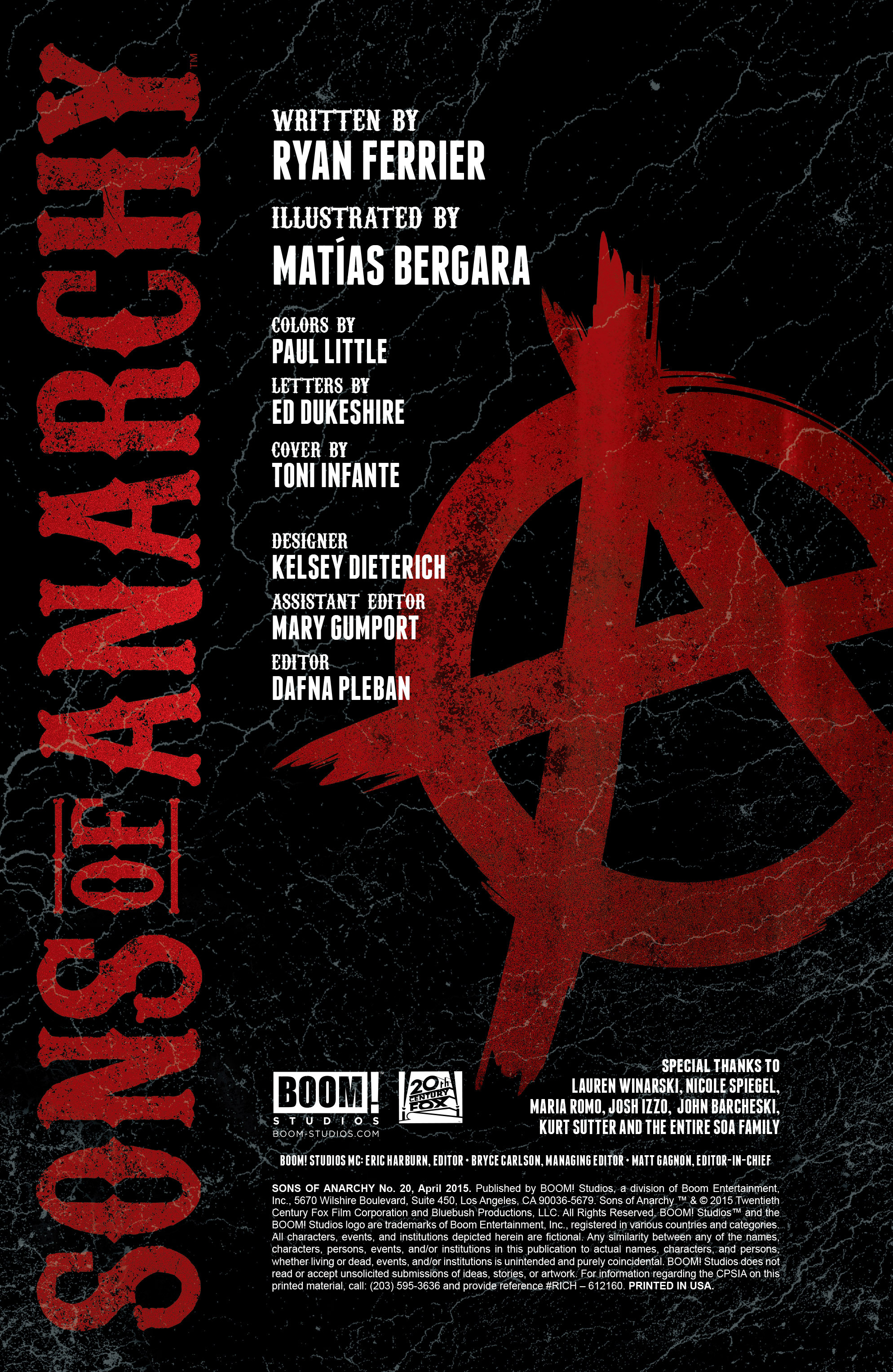 Read online Sons of Anarchy comic -  Issue #20 - 2