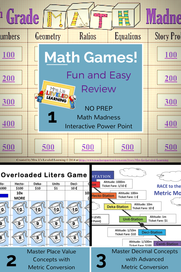 Math Games Archives - Mrs. L\'s Leveled Learning