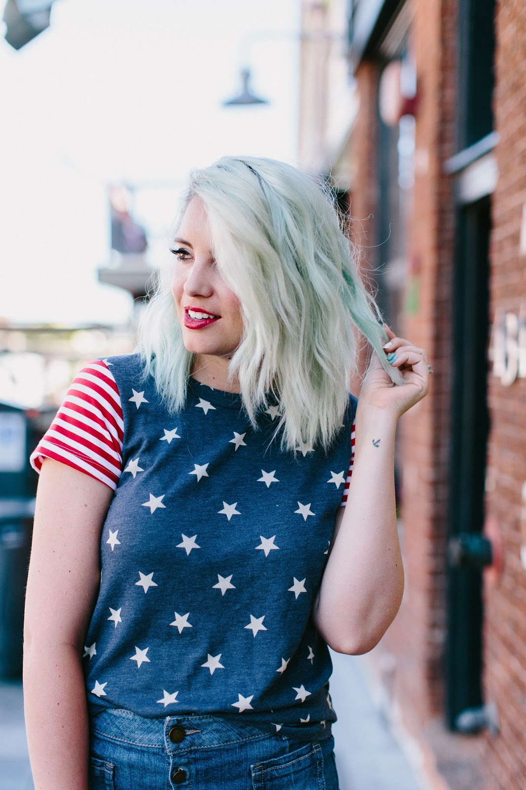 Red Lips, Utah Fashion Blogger, Mint Hair