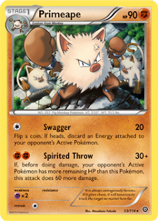 Primeape Steam Siege Pokemon Card