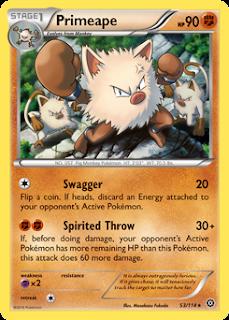 Primeape Steam Siege Pokemon Card