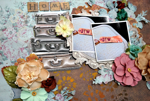 Home by Dana Tatar for Scraps of Darkness - May Attic Finds Kit - Closeup