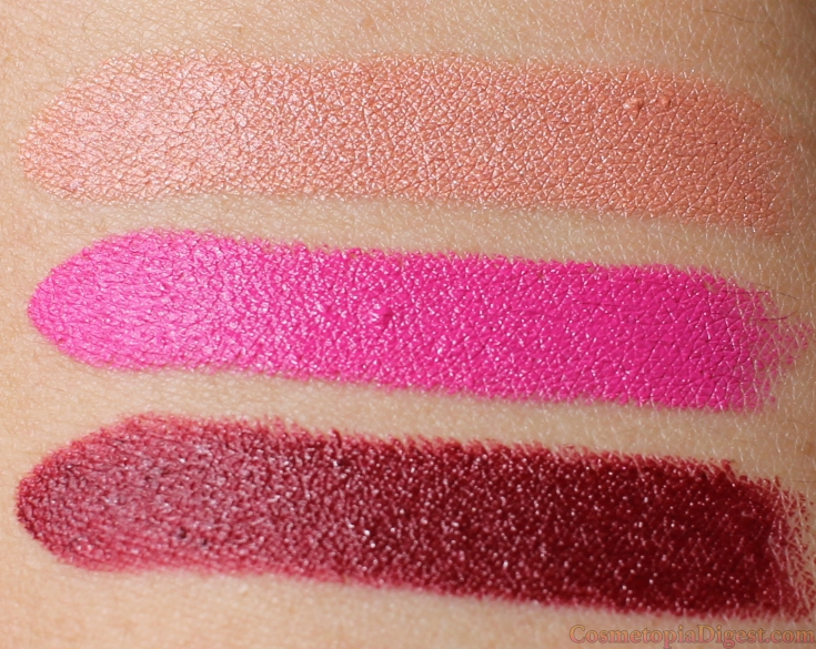 Review and swatches of RealHer Cosmetics Moisturising Lipsticks.
