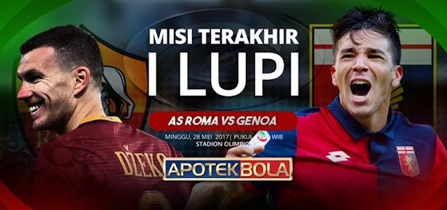 Prediksi Pertandingan AS Roma vs Genoa 28 Mei 2017
