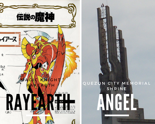 Mashin Rayearth God Quezon City Memorial Circle Angel, anime in real life