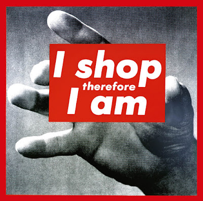 CGTrader, blogging competition, Barbara Kruger, i shop therefore i am, consumerism, fast fashion, textile candy