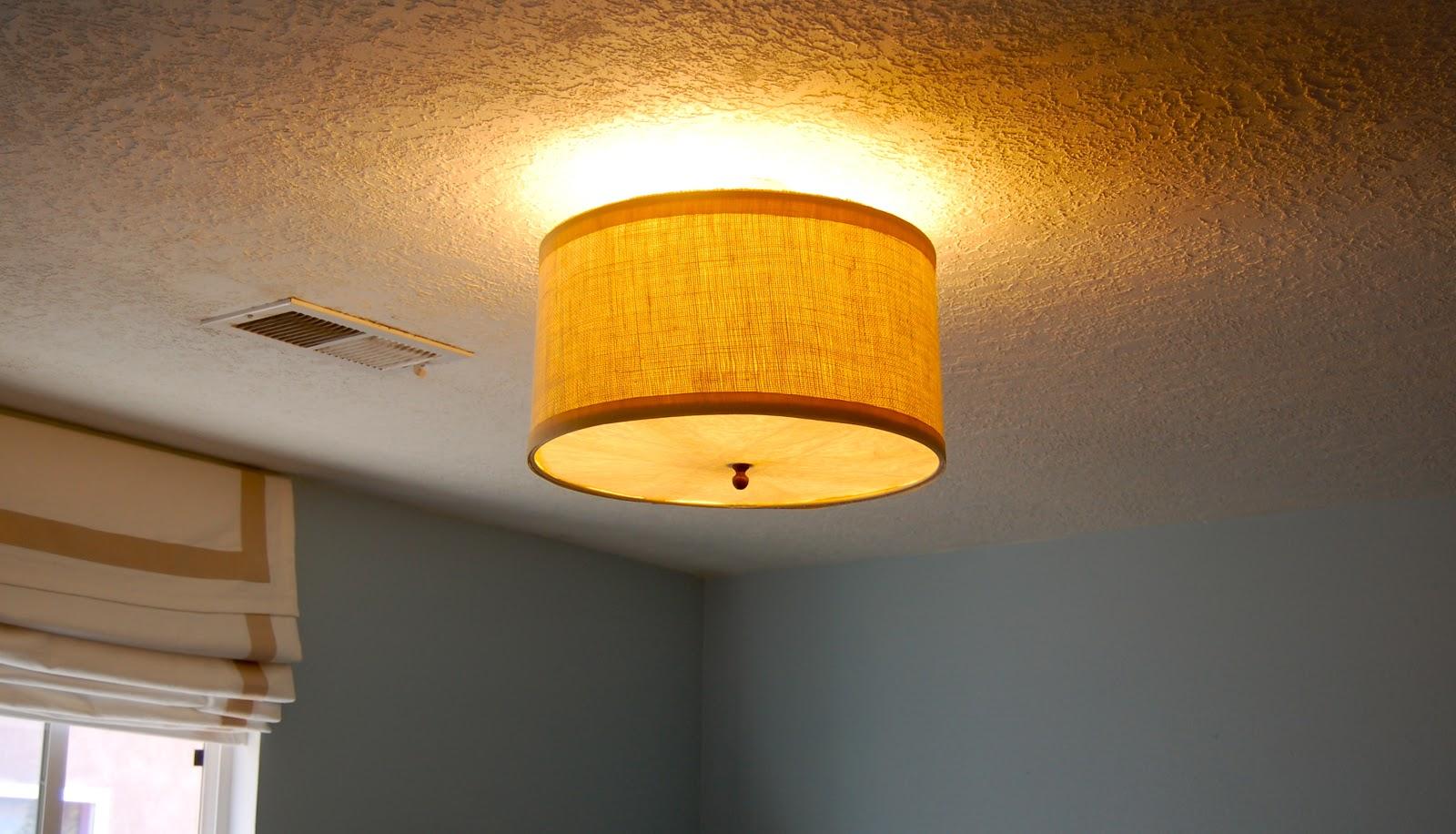Ceiling Mounted Drum Shade Light {DIY} / Desert Willow Lane