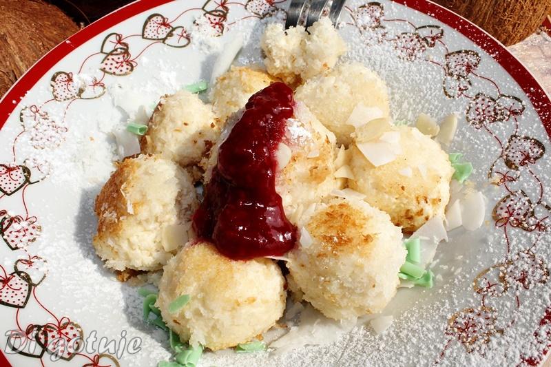 Kluseczki kokosowo-migdałowe z serka Capri (bez glutenu)