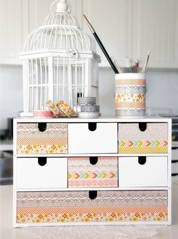 Ideas To Decorate Your Home With Washi Tape 7