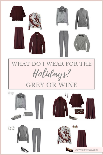 Grey or Wine? What do I Need to Wear for the Holidays?