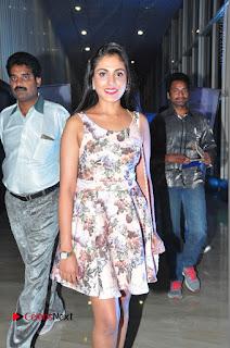Actress Madhu Shalini Stills in Floral Short Dress at RGV Shiva to Vangaveeti Event  0077.JPG