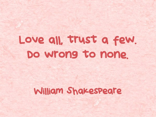 SHAKESPEAR QUOTE ABOUT LOVE