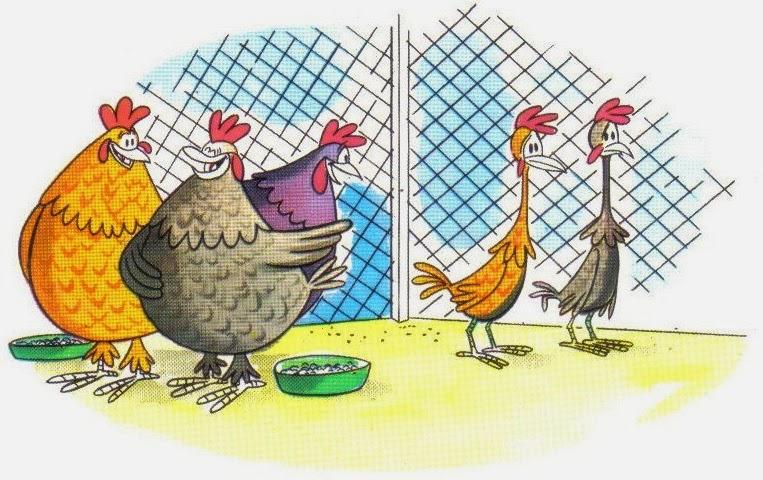 fabula corta las gallinas gordas y flacas