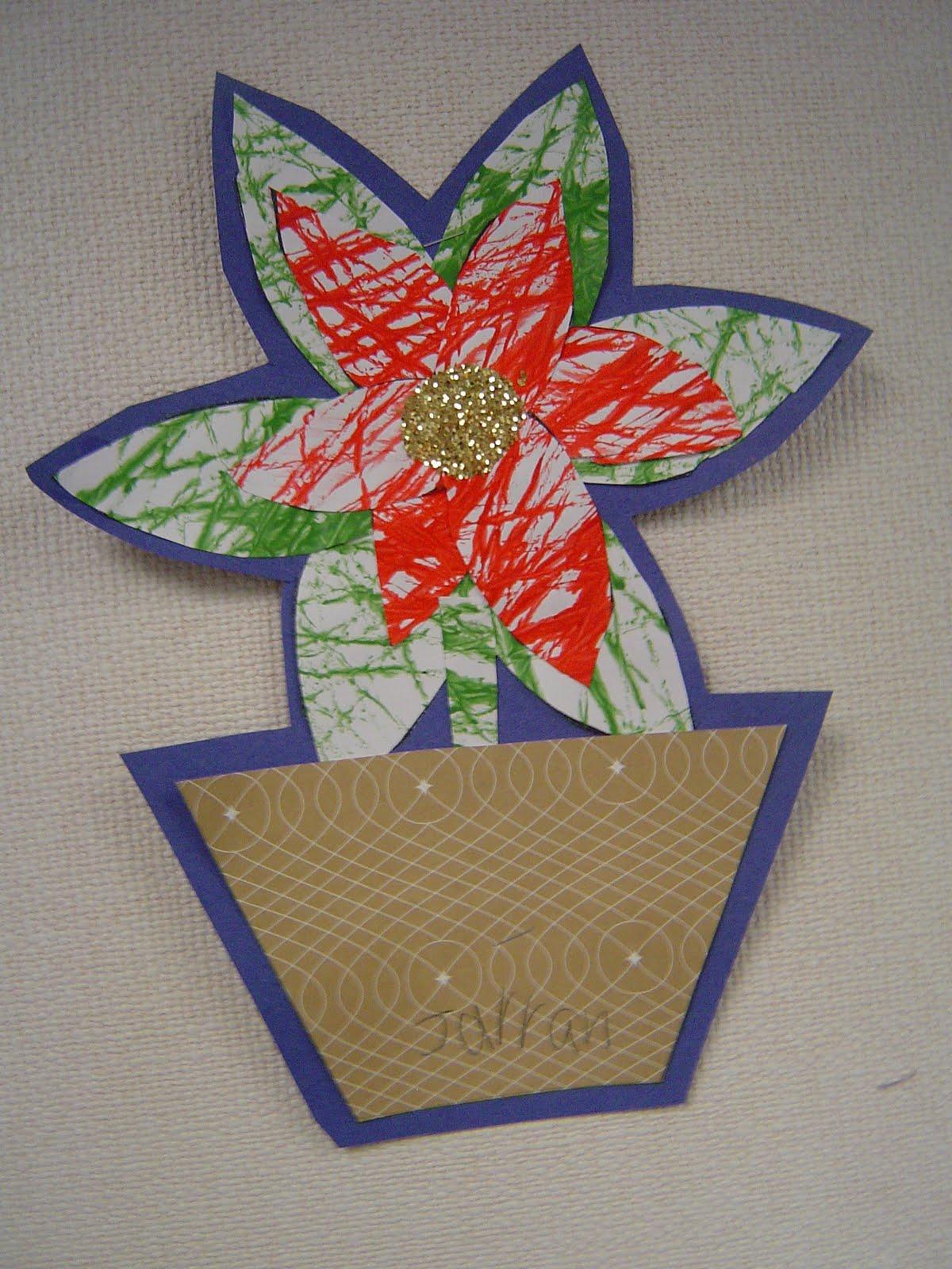 Mrs T S First Grade Class Christmas Poinsettia