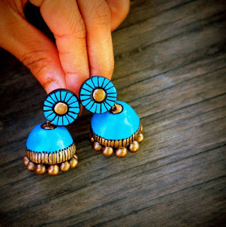 Handmade quilling jhumka designs for girls - quillingpaperdesigns