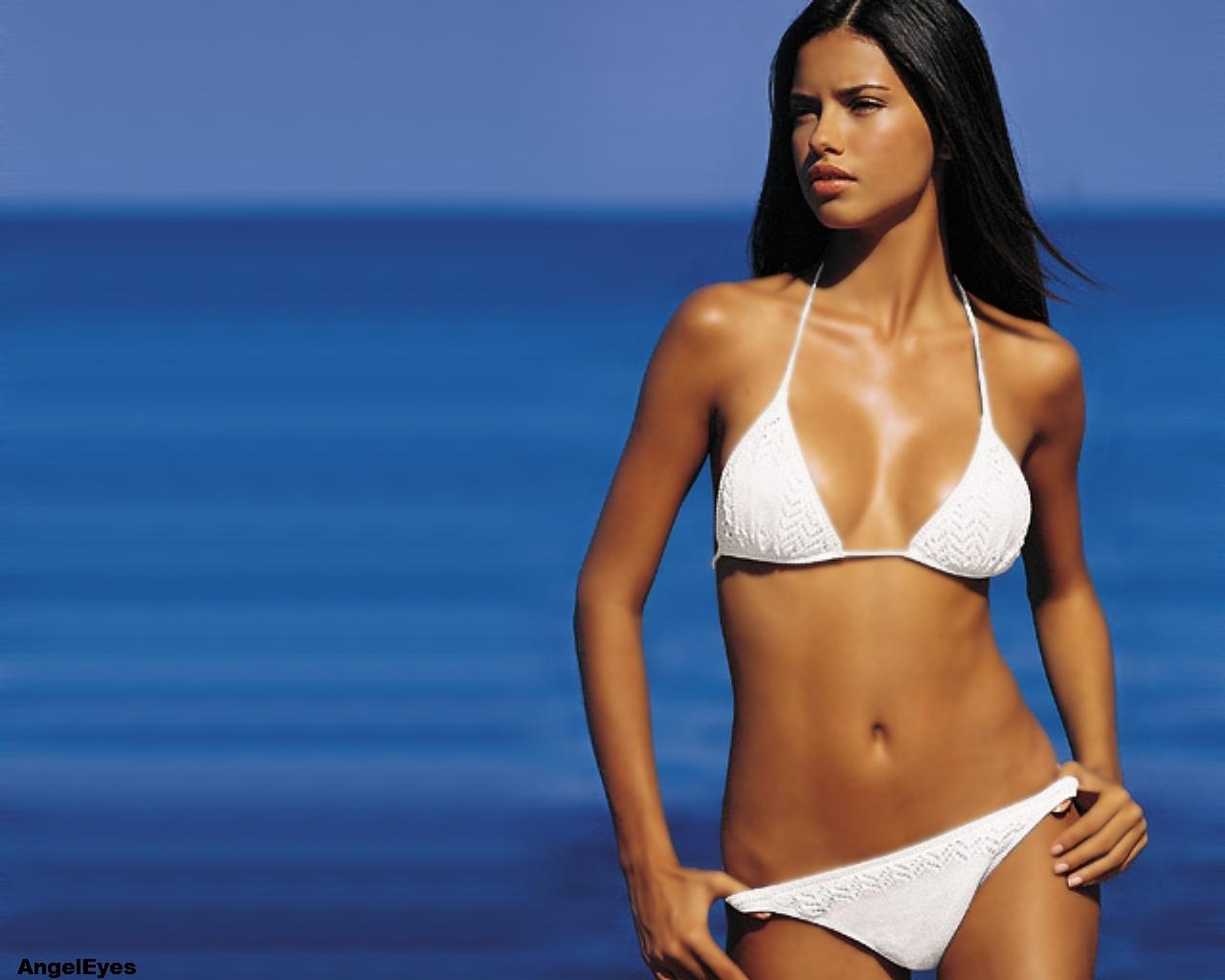 Adriana Lima White Bikini 52