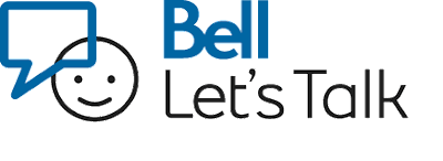 logo for Bell Let's Talk in blue letters