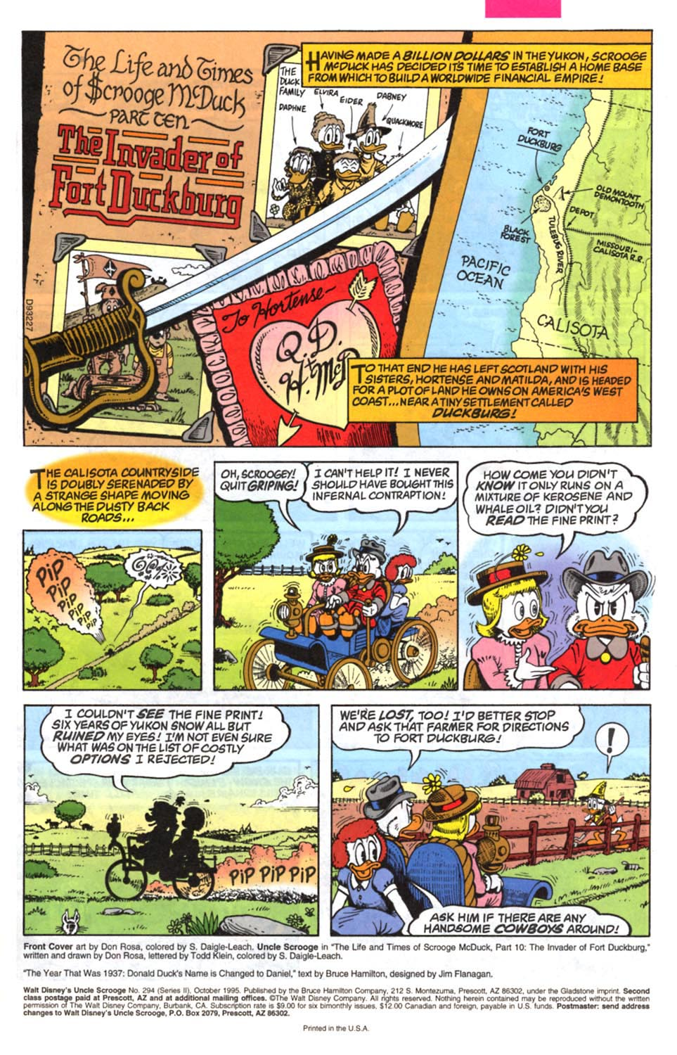 Read online Uncle Scrooge (1953) comic -  Issue #294 - 2