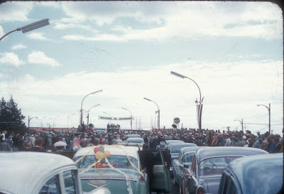 Opening of the Oak Street Bridge in Richmond, 1957