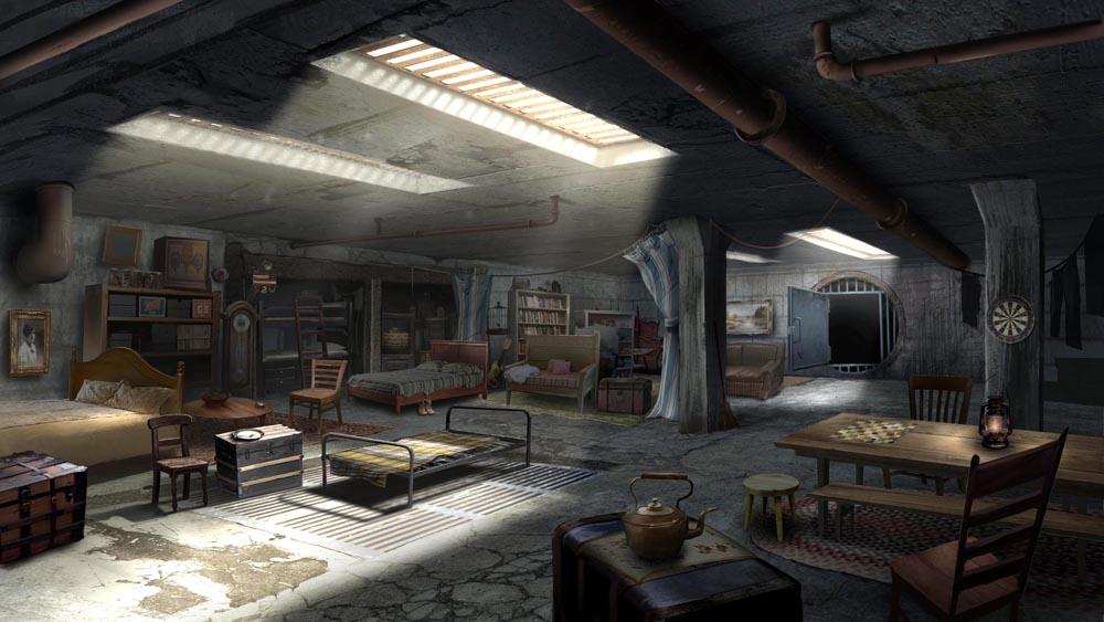 Jim Martin Concept Art Underground Shelter