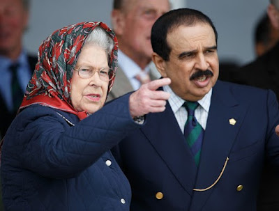 The Queen and the King of Bahrain at last year's Royal Windsor Horse Show