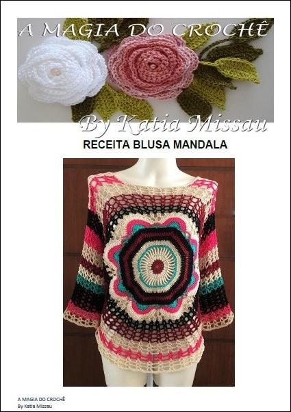 537edfbaec Katia Missau  Blusa Mandala com Receita em Pdf e Impressa