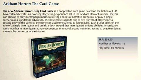 Arkham Horror the living card game LCG
