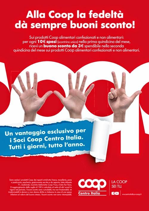 Offerte Alimentari Coop: 3 euro di regalo ogni 10 di spesa