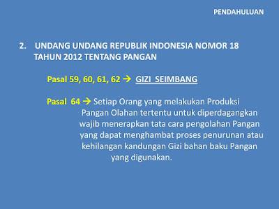 Undang-Undang Republik Indonesia Nomor 18 Tahun 2012 tentang Pangan