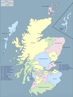 mapa de escocía
