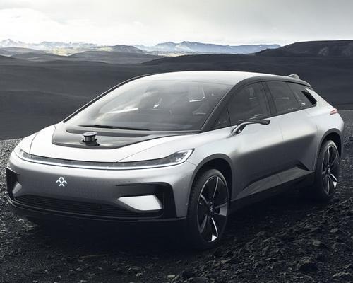 Tinuku.com Faraday Future FF 91 electric car self-drive, 1050 horsepower, acceleration 2.39 seconds and artificial intelligence