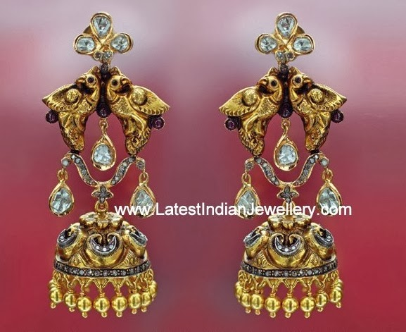 Hiya Jewellers Antique Jhumkis