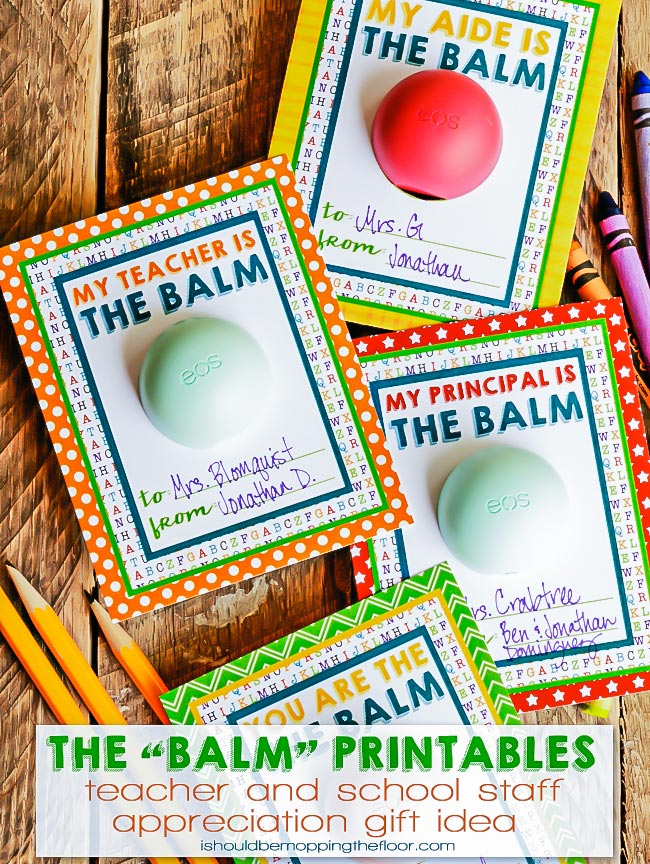 graphic about You're the Balm Free Printable known as Cost-free EOS Lip Balm Instructor Appreciation Printables i must