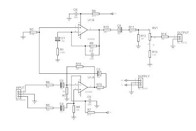 Input Balance Power Amplifier 4558 CIrcuit