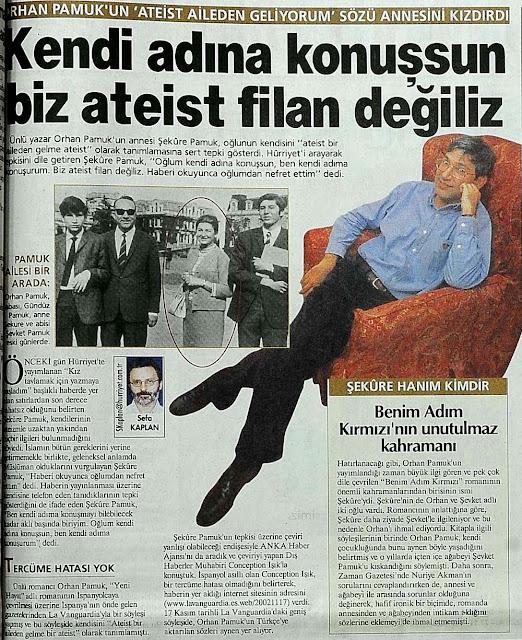 Orhan Pamuk ateist